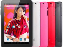 Dual core tablet pc en Ligne-Vente chaude A23 9 pouces Dual Core Tablet PC Android 4.4 Allwinner 8GB 1.2GHz avec caméra double 2160P Livraison gratuite