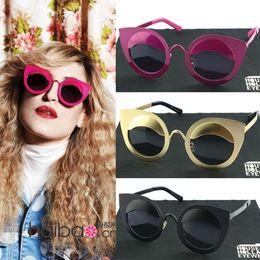 Fille chat cru à vendre-Marque 2015 Femmes Cat Eye Sunglasses filles Vintage Oculos De Sol Elégant Lunettes Summer Vintage Fashion Lunettes de soleil Shades