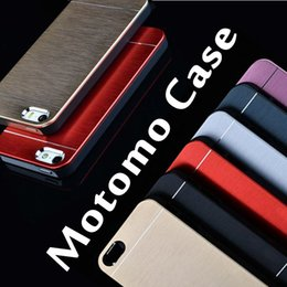 Wholesale Luxury Metal Motomo Aluminum Brushed Cell Phone Hard Case For iPhone S Plus inch Samsung S7 S6 Edge Note Free DHL MOQ