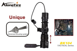 AloneFire BK104 Tactical Series CREE XM-L L2 LED 5 mode Professional Zoom tactical flashlight torch light