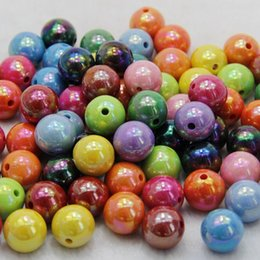 Wholesale AB color shade blending solid surface acrylic beads chunky beads DIY beads jewelry accessories