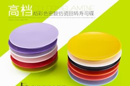 Wholesale Melamine Sushi Plates Japanese Traditional Food Plate Genroku Sashimi Conveyor Belt Sushi Utensil Buffet Dinner Dishes Colorful Tableware
