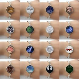 Hot sale mix 16 Summer style alloy jewelry - Glass cabochon dome art photo charm bracelet for women men trendy bracelet HP34