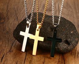 Religious Jewelry 35MM stainless steel cross pendant titanium steel men's necklace wholesale ladies items