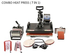 NOUVEAU 7 dans 1 T-shirt / tasse / chapeau / machine de presse de chaleur de Combo de plaque, presse de chaleur, machine de sublimation, machine de presse, machine de transfert de chaleur à partir de transferts tshirt fabricateur