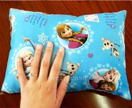 Wholesale Christmas Frozen Children Pillows Desk Nap Homelike Small Car Back Kids Pillow Mat Cartoon Elsa Anna Princess Picture Pillow Winter NEW