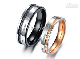Wholesale - New Arrival Lover's Jewelry Titanium Couple Rings Wedding Engagement Rings One Pair Price