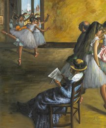 Wholesale Figure oil painting for child hand painted Edgar Degas s reproduction The Ballet Class