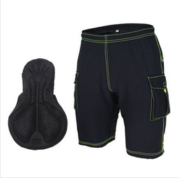 Wholesale-2015 Mens Cycling Shorts Padded Downhill MTB Clothing Mountain Bike Bicycle Outdoor Sports Loose-Fit Shorts