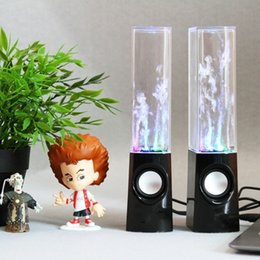 Wholesale USB Water Spray Mini Speaker Creative Music Fountain Dance Colorful LED Speakers Computer Portable Subwoofer Caixa De som S05