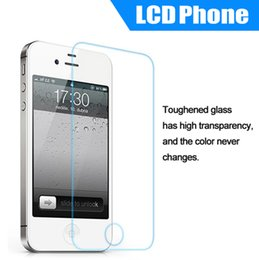 Wholesale Tempered Glass Screen Protector For iphone S With Cell Phone Screen Protectors For iPhone G without retail box