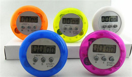 Wholesale Free Shipping by DHL ! ! 400pcs Colorful Digital Lcd Timer Stopwatch Kitchen Cooking Countdown Clock (DY)