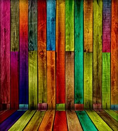 5*6.5FT Custom Children Backgrounds Photography Backdrops Colorful Wooden Floor Fotografia Thin Cloth Vinyl Backdrops For Photography