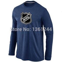 Wholesale Hockey T Shirt NHL Big amp amp Tall Logo Long Sleeve men T Shirt mix order Stretch cotton