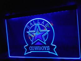 Wholesale LD239 b Dallas Cowboys Sport Bar Neon Light Sign home decor shop crafts led sign