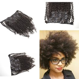 Clip In Human Hair Extensions Vietnamese Virgin Afro Kinky Curly Clip In Hair Extensions 7PCS Set 120G G-EASY Curly Clip Ins