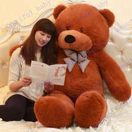 Acheter en ligne Les brunes-Nouvelle Arrivée 6,3 PIEDS TEDDY ours en peluche MARRON CLAIR taille: 160cm cadeau d'anniversaire