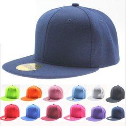 2017 sombreros de béisbol en blanco snapback Al por mayor-Hip Hop venta caliente Bboy Estilo Poliéster 20 colores disponibles unisex gorra de béisbol en blanco llano Snapback ajustable Deportes Sombrero sombreros de béisbol en blanco snapback en venta