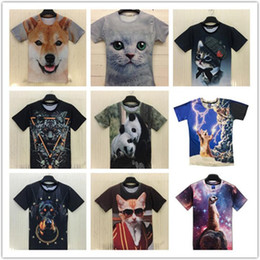 2016 HOT SALE men tee shirts Europe STYLE 3D animal prints T-shirts lovers personality spoof T-shirt