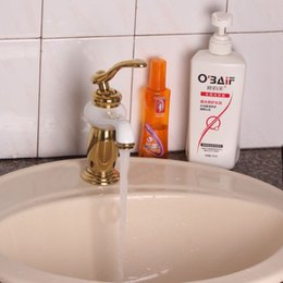 Wholesale Vessel sink golden faucet fashion gold and white painted bathroom faucets toilet bath sink mixer tap