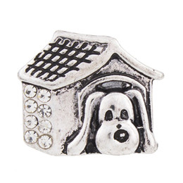 NSB2344 Hot Sale Snap Jewelry Button For Bracelet Necklace 2015 Fashion DIY Jewelry Metal Snaps Dog House Buttons