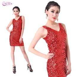 2015 Hot Factory Adult Sleeveless Vest Skirt Dance Dress Package Hip Sexy Double V-neck Costumes Short Skirt A0305