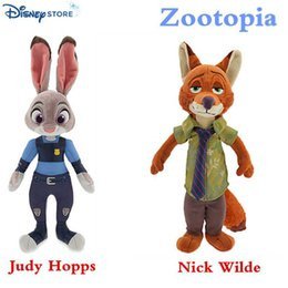 2016 NEW Zootopia plush toys Judy Hopps Nick Wilde Stuffed Animals dolls 33cm EMS free shipping C564