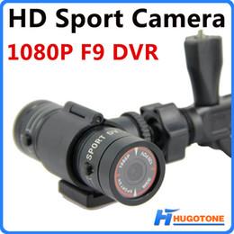 2017 caméra de voiture de vélo Mini F9 caméra vidéo d'action étanche voiture de sport DVR casque de vélo extérieur 5MP Full HD 1080p caméra H.264 caméra DV promotion caméra de voiture de vélo