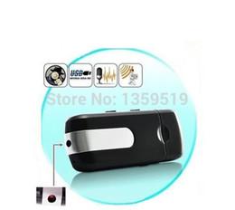 USB DISK Hidden Camera Mini DVR U8 USB Flash Drive HD mini Camera Motion Detection U Disk Digital Video Recorder 50pcs