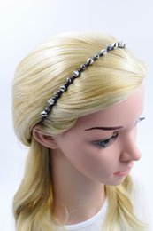New Women Crystal Hairband Handmade with Revit Braided Punk Hair Accessories Fashion High Quality Hair Jewelry for Wholesale