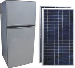 Wholesale DC appliances Vsolar fridge solar refrigerator L solar powered directly fridge freezer solar panel powered fridge freezer