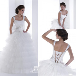 Detachable Skirt A Line Floor length Tiered Tulle Beaded Fashionable Wedding Dresses With Straps Low Price Wedding Bridal Gowns