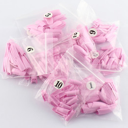 Wholesale 500pcs bag Baby Pink Color French Nails tips False Nail Art Tips Acrylic Nail Tips SKU A0074