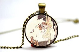 Wholesale 10pcs Girl Bunnies Necklace Glass Dome Art Picture Pendant Photo Handcrafted Jewelry
