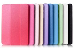 Tri-Folding Folio Stand Cases For Samsung Galaxy Tab A 7.0 T280 8.0 T350 9.7 T550 A6 10.1 Skin Protective Shell Flip Cover Case Silk Leather