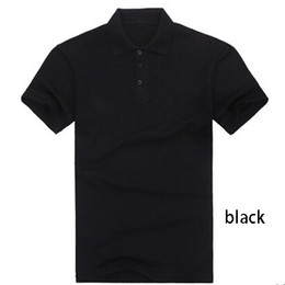 Wholesale Summer Short Sleeved T shirt Lapel Cotton Solid Color Lapel Nightwear For Men And Women Customizable