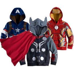 Wholesale Boys Girls the Avengers Mickey Kids Jackets Coats Children Outerwear Coats Super Hero Captain America Jacket Children Clothing D5596