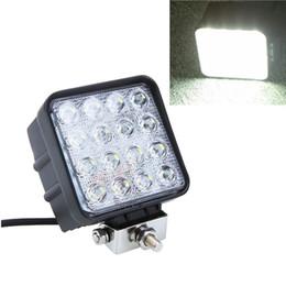 Wholesale 16 LED W led Work Light car Fog light Aluminium alloy IP67 Waterproof V for Jeep SUV ATV Off road Truck working lamp