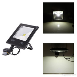 Wholesale Outdoor W W W W PIR Motion Sensor Floodlight Induction Sense led flood light IP65 refletor Lamp Environmental friendly