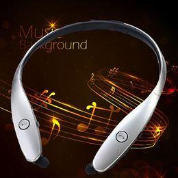 hot sale! Fashion Bluetooth Headset Earbud For iPhone Samsung LG HBS-900 HBS 900 Tone Wireless Mobile headphone handsfree Earphones