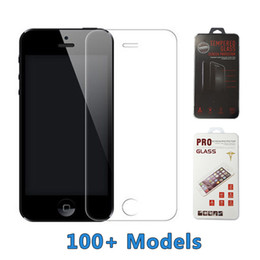 Wholesale For iPhone S Tempered Glass H Screen Protector Samsung Galaxy S6 edge Plus LG Moto Htc Black Berry Sony Google with Retail Package