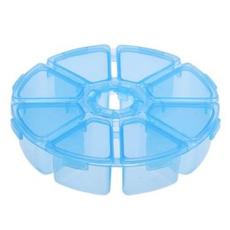 Wholesale Best Deal New Round Grids Clear Jewelry Storage Assortment Box Plastic Case Convenience Store Small Items Transparent Box PC