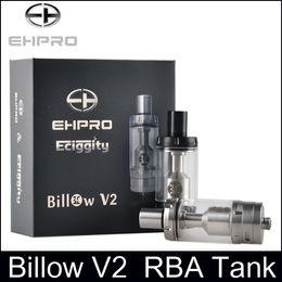 Billow v2 en Ligne-Top qualité Ehpro Billow V2 RBA Tank clone 5.0ML Atomiseur de réservoir rebâtissable Atomiseur de contrôle de débit d'air avec large alésoir Delrin Base en stock