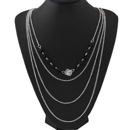 Trendy Multilayer Link Chain Necklace Alloy Plated Long Neckalce Summer Fashion Jewelry Body Chain Women Accessories