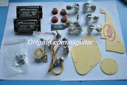 1 set Electric Guitar Parts Pickups pickguard Tuning Pegs Guitar line guitar parts Free Shipping