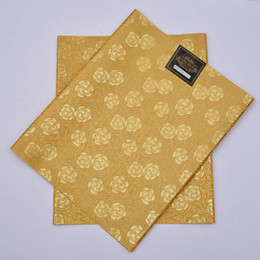 Wholesale SL Latest design African headtie UNIC Sego headtie gear Gele amp Wrapper set High Quality Many Colors Available GOLD