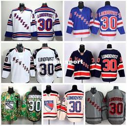 2016 New, New York Rangers 30 Henrik Lundqvist Jersey Winter Classic Stadium Series Blue Beige White Camo Lundqvist Rangers Hockey Jer