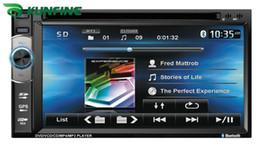 2017 tuner audio vidéo Lecteur DVD universel pour voiture Radio stéréo FM USB / SD Bluetooth / TV avec commande au volant avec GPS Ecran tactile de 6,2 pouces abordable tuner audio vidéo
