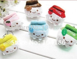 Wholesale Plush TOY Stuffed Cute CM Milk Can DOLL Phone Strap Charm Pendant Chain TOY DOLL Wedding Gift Bouquet DOLL TOY