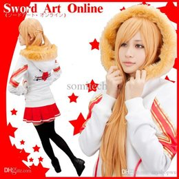 Wholesale EXCLUSIVE the only one Sword Art Online Asuna Yuuki plain clothes sportswear cosplay COAT